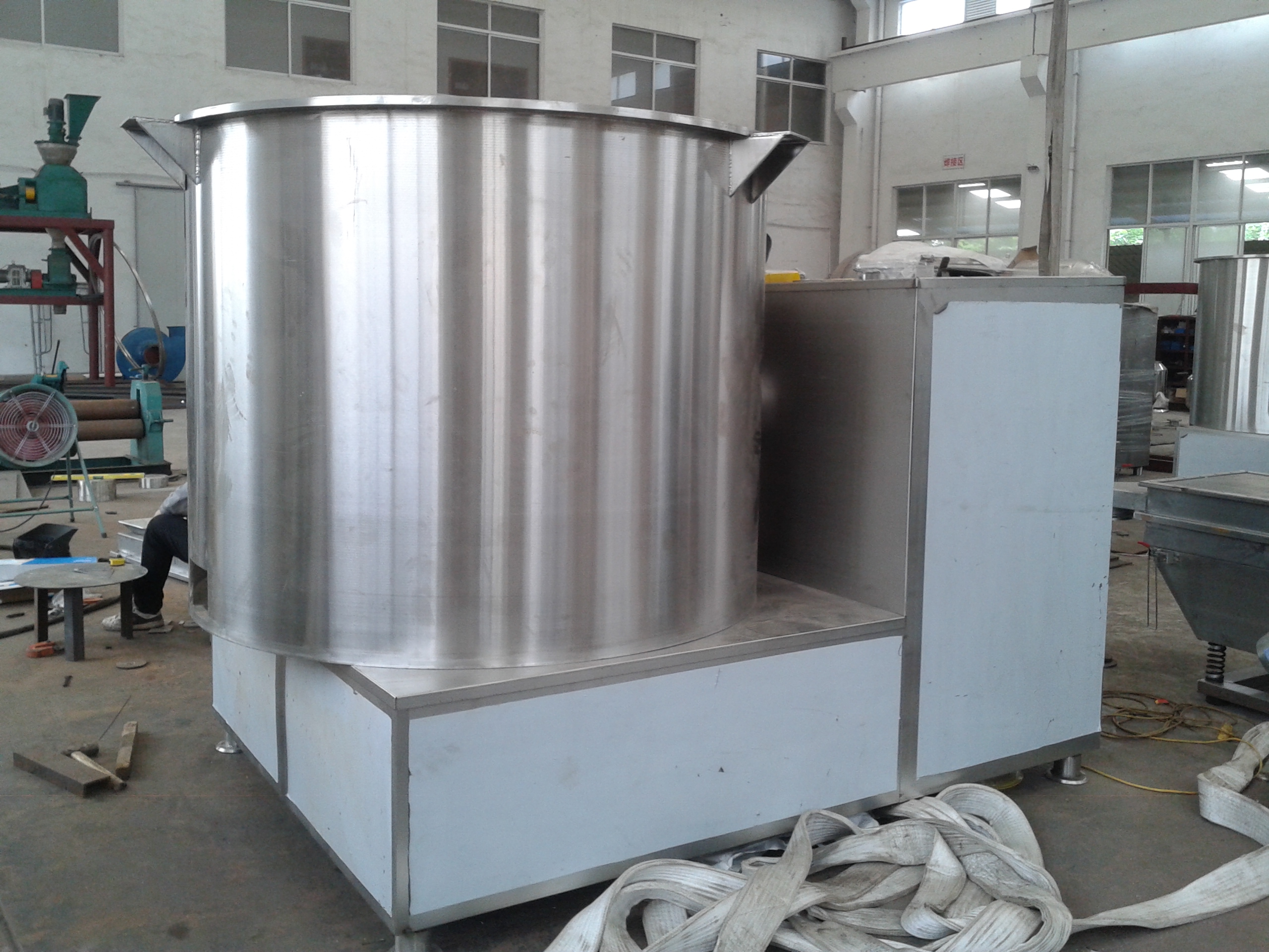 Pesticide granules dedicated mixer